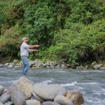 Fly fishing on the Napo